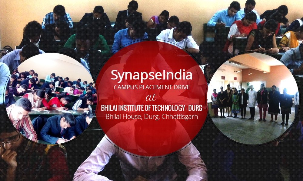 SynapseIndia campus placement drive at BIT Durg