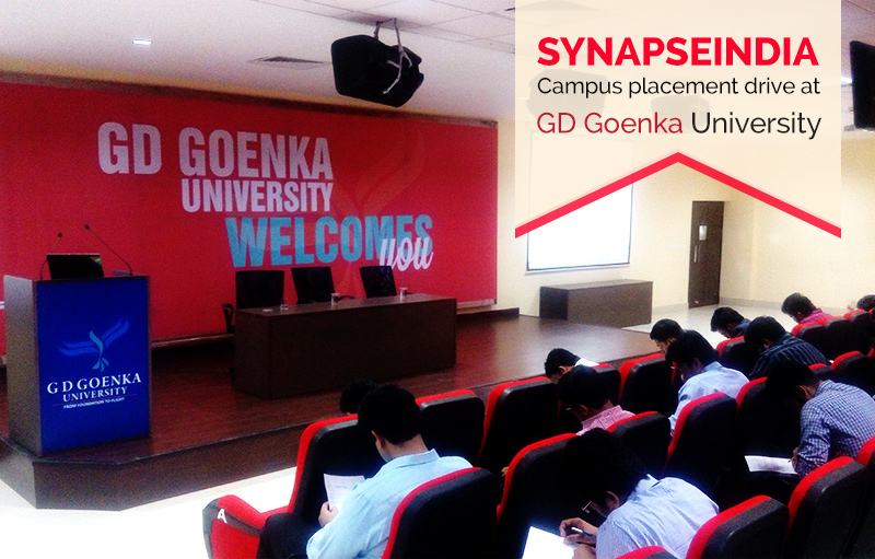SynapseIndia Recruitment Drive at GD Goenka University